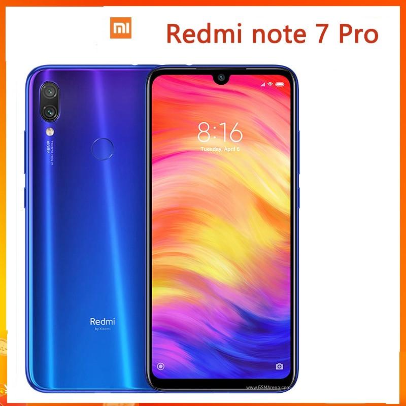 Xiaomi Redmi note 7 pro смартфон мобильный телефон Snapdragon 675 с 48,0 мп камера, сканер отпечатка пальца, быстрая зарядка 4,0