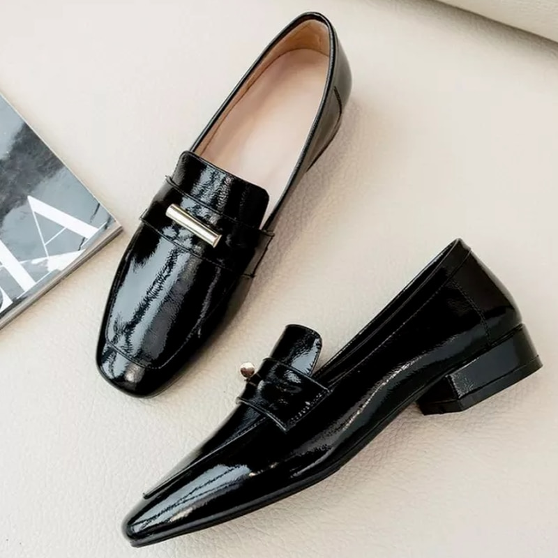 Men Pu Leather Low Heel Slip-on Newest Dress Shoes Male Fashion Casual Stylish Loafers Shoes Zapatos