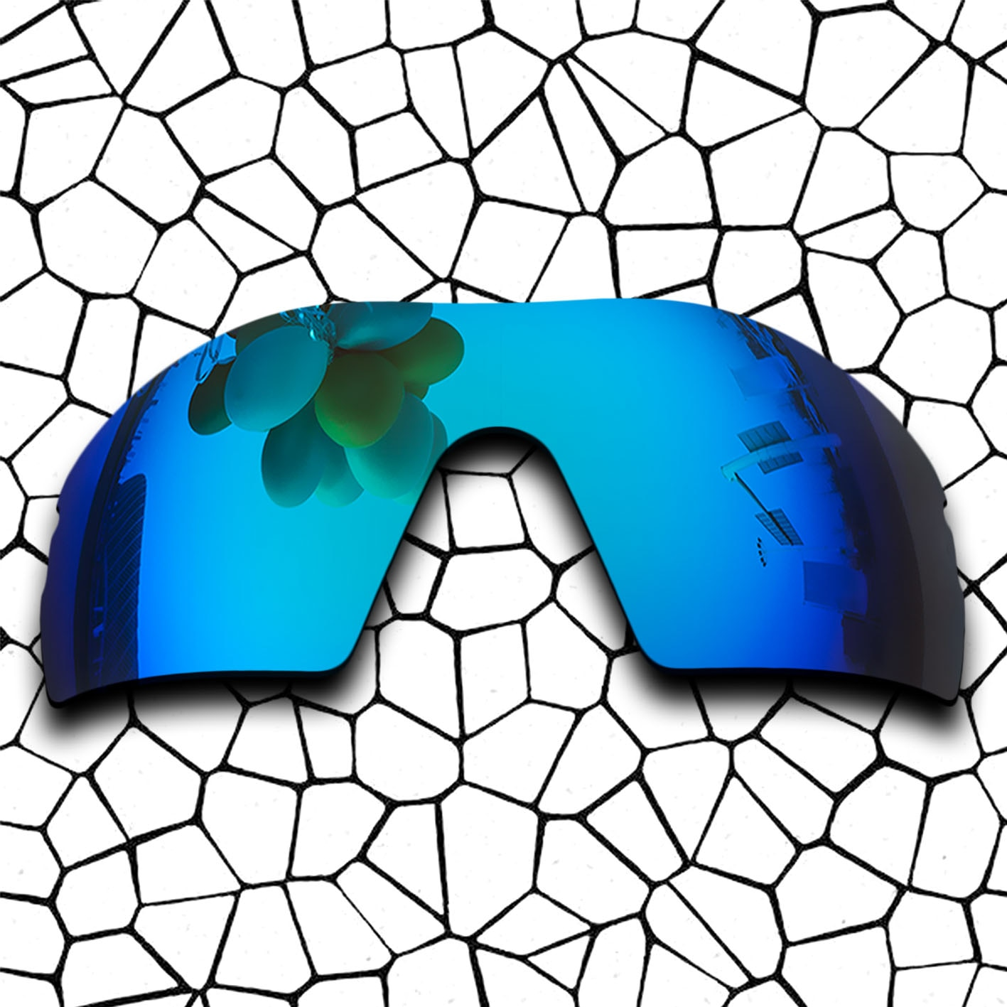 Polarized Replacement Lense For-Oakley RADAR PITCH Sunglasses Frame True Color Mirrored Coating - Blue Options