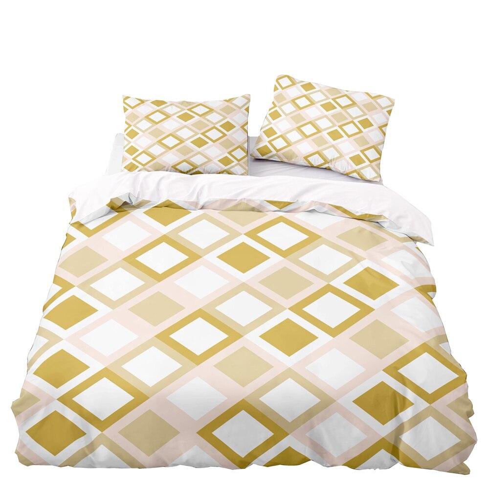 الشمال نمط الهندسة نمط طقم سرير ، 220 × 260 مجموعة غطاء لحاف مع المخدة ، 220 × 230 غطاء لحاف ، غطاء بطانية بيضاء