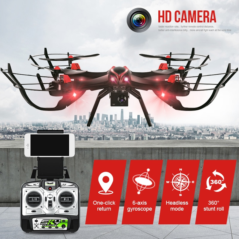 MaX 1327 RC Drone RC Quadcopter Drone WIFI 2,4G helicóptero RC Drones con cámara de transmisión aérea Drone ChildrenS juguete regalo
