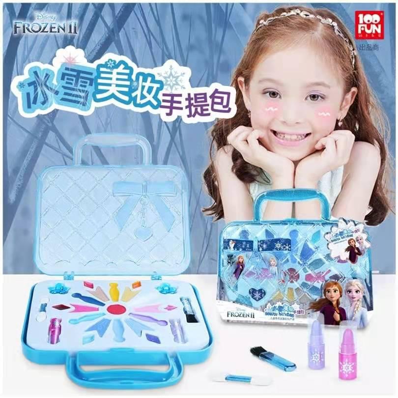 Фото - New Disney girls frozen 2 elsa and anna princess handbag Makeup set  cute Beauty pretend play toy Gift Box подарочный набор disney frozen ii anna house set