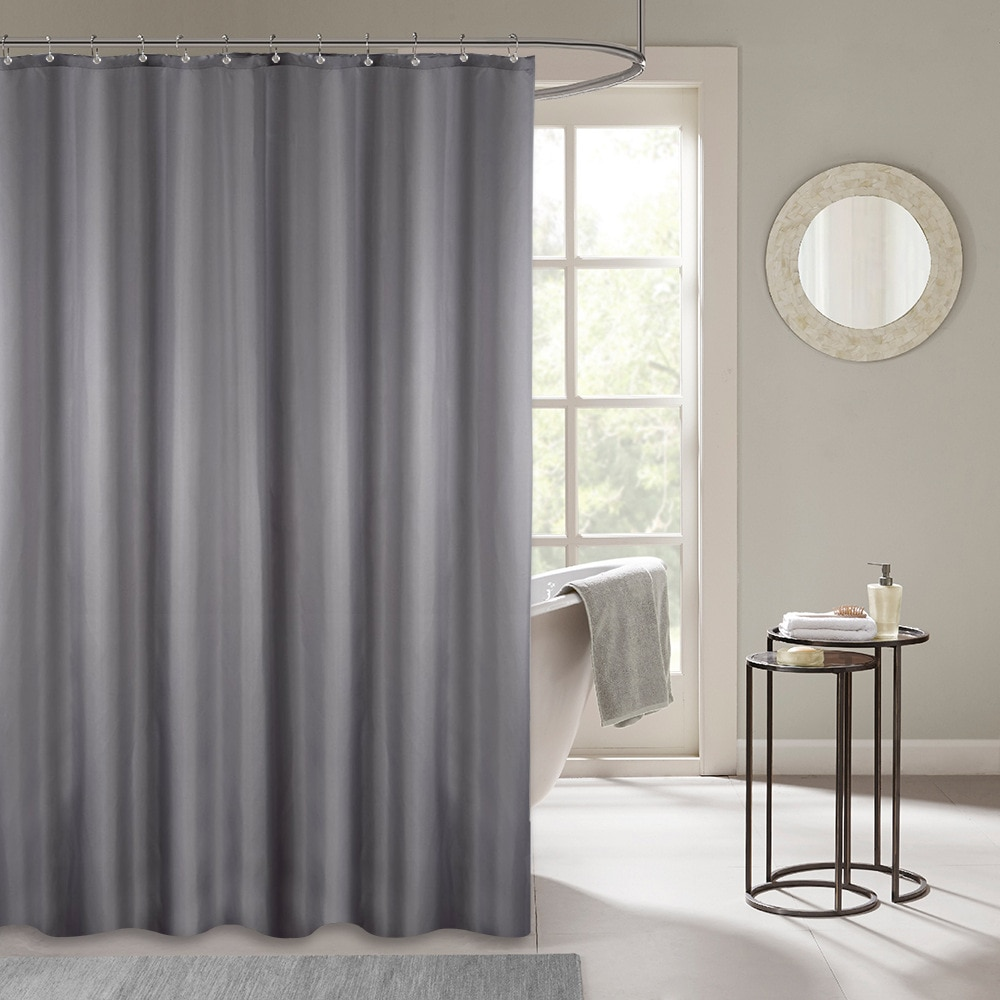 Cortina de ducha de tela de plástico, gruesa, moho, impermeable, 180x180cm
