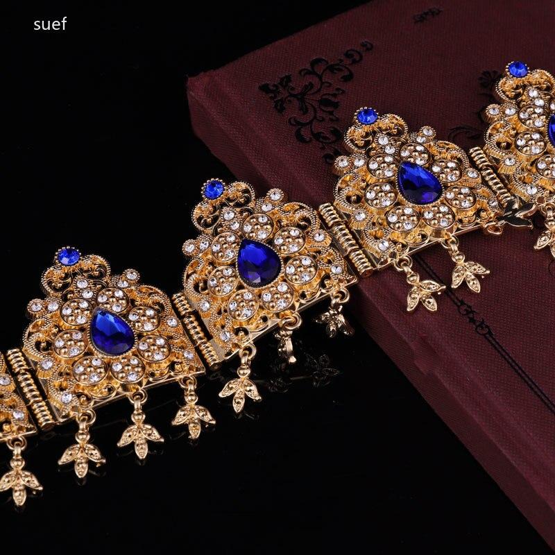 Арабская Невеста Дубай, аксессуары для волос, металлическая КАПЛЕВИДНАЯ цепочка для волос, цвет стразы, русские женщины, женские Украшения ...
