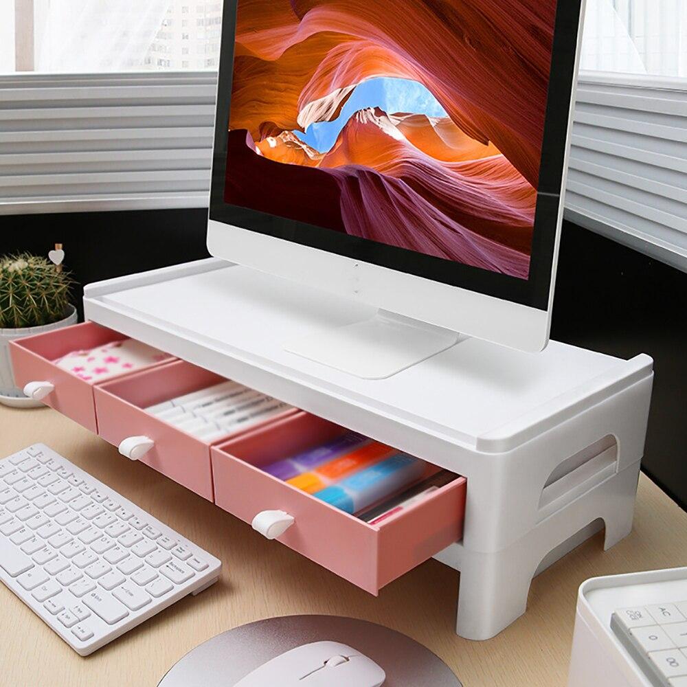 متعددة الوظائف شاشة لاب توب حامل لوحة المفاتيح خزائن مقلمة كتب القرطاسية مختلف رفوف الكتب تخزين اللوازم المكتبية