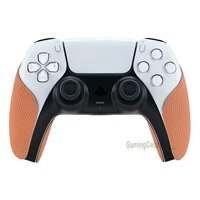 playvital coral anti skid sweat absorbent controller grip textured soft rubber pads handle grips for ps5 controller