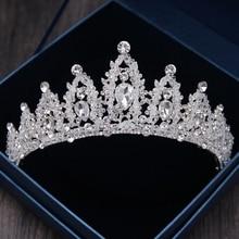Luxury Handmade Rhinestone Bridal Crown Tiara Diadem Tiaras For Bride Headbands Wedding Hair Accessories
