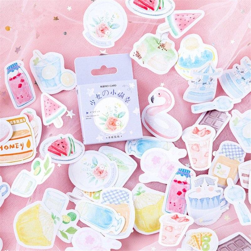 46 unids/bolsa chica favorito helado Kawaii notas adhesivas papel adhesivo Bloc de notas oficina escuela suministros papelería