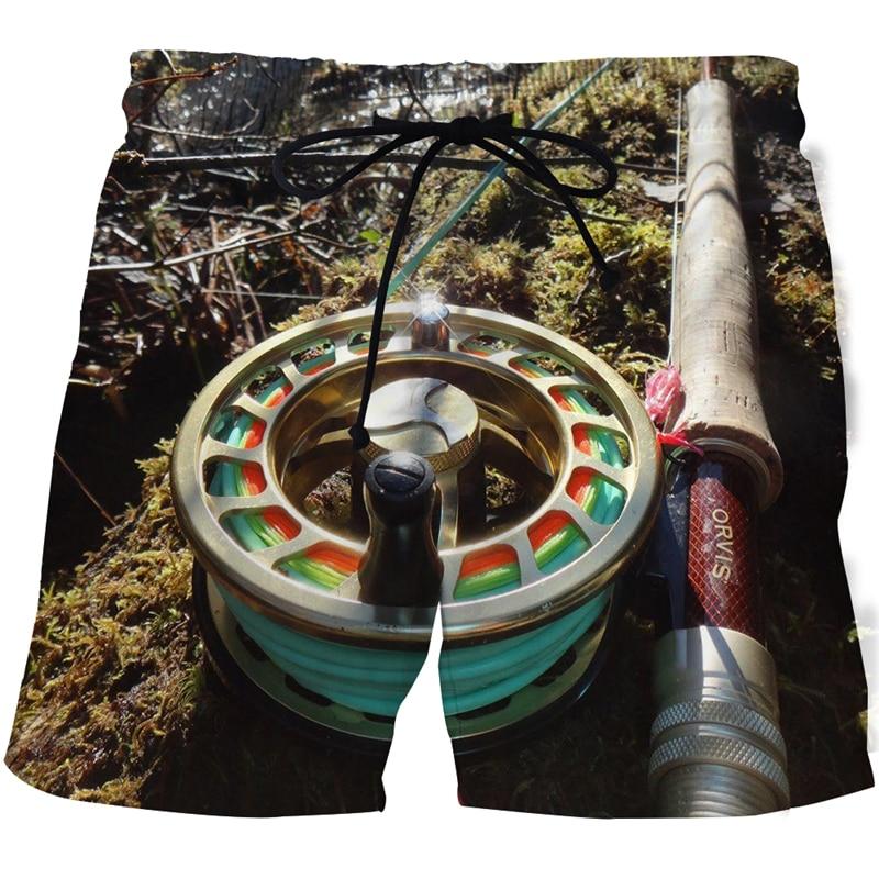 Объёмный рисунок (3D-принт) Рыбалка графический, мужские бикини, Шорты рыбы мужские пляжные шорты для серфинга, Шорты мужские Шорты тренажерн...