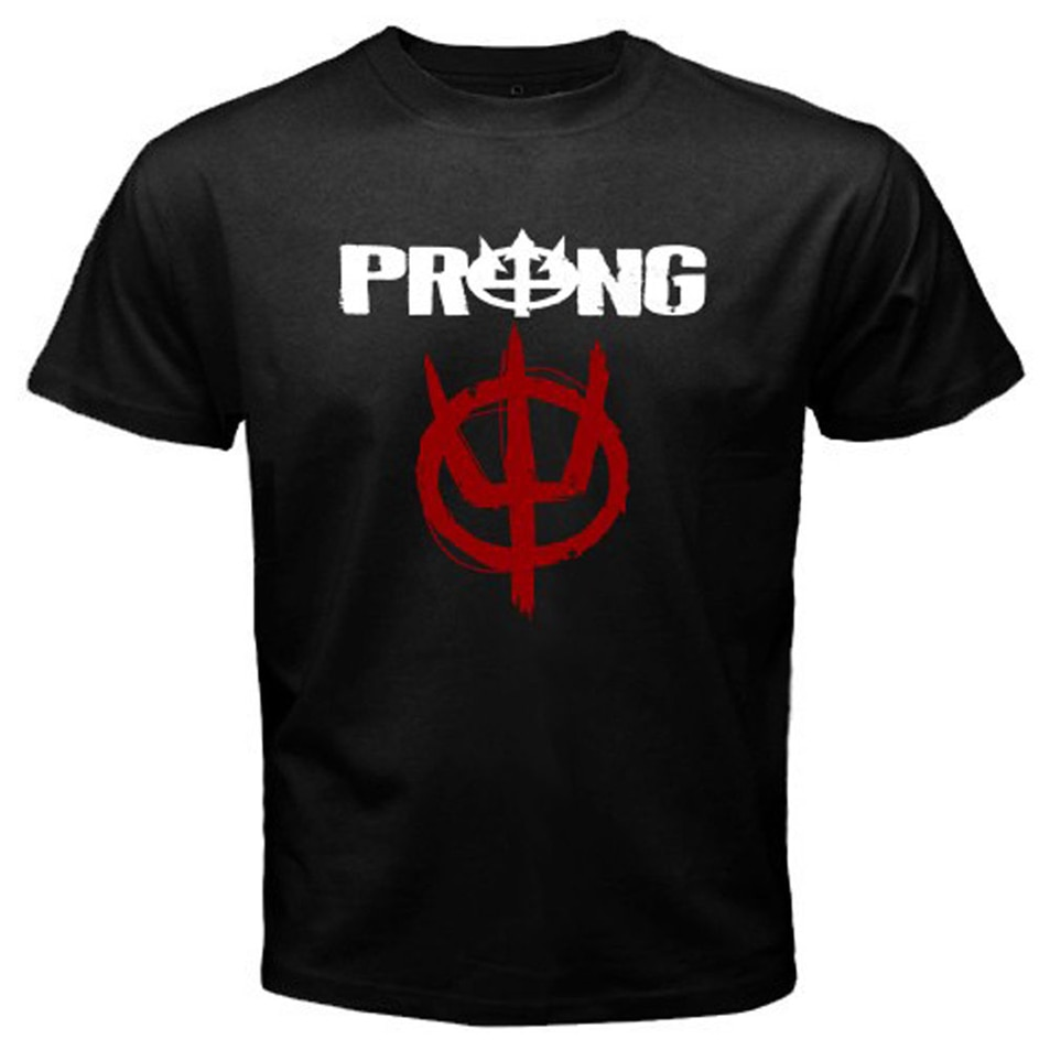 Nieuwe Prong Logo Metal Rock Band Legend MenS Black T-Shirt Maat S Tot 3Xl Korte Mouwen Tee Shirt