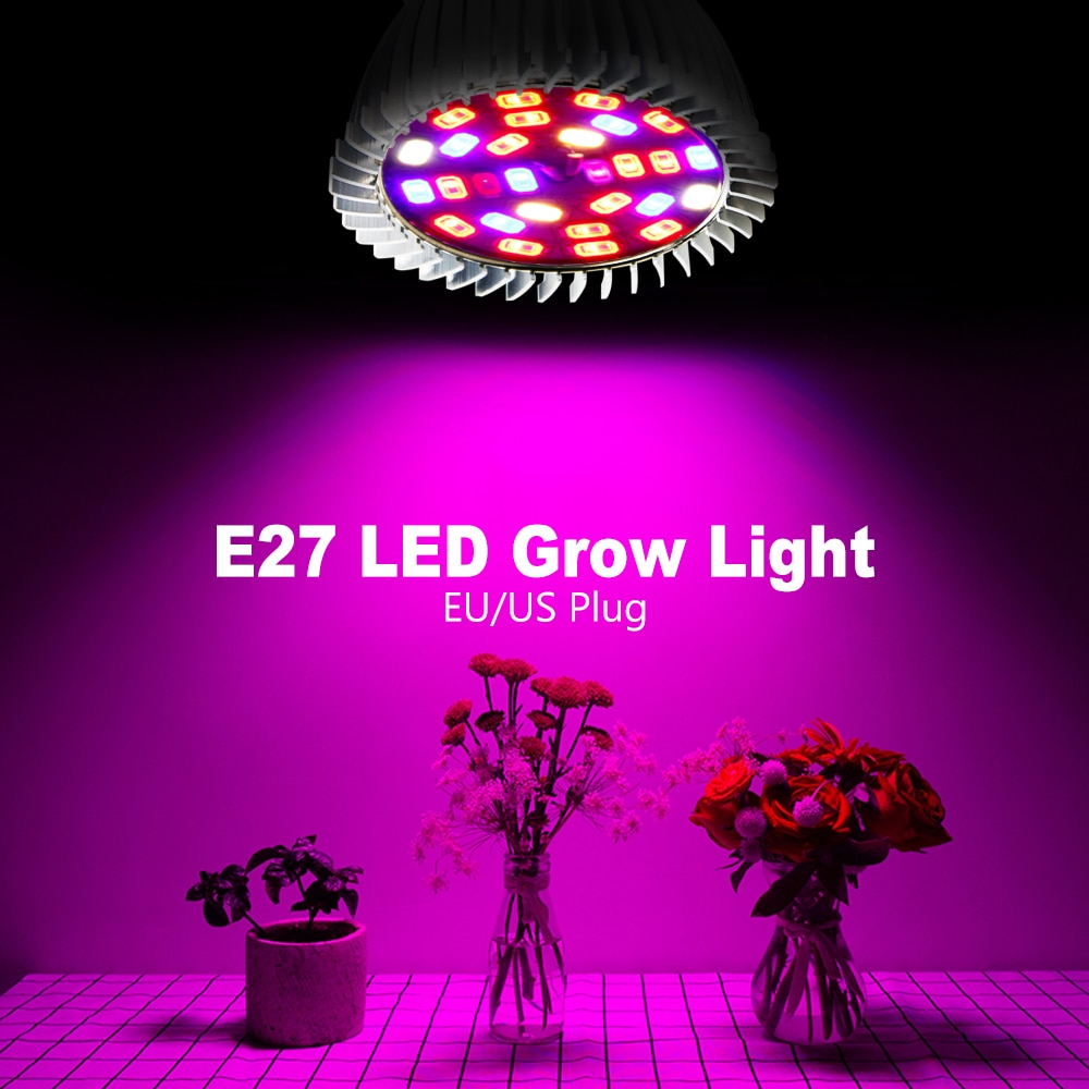 new 2 heads led grow light dual head 18w plant grow lamp led fitolampy with double on off switch for hydroponics grow system Indoor E27 LED Grow Bulb Full Spectrum Plant Light 220V Phyto Lamp 18W 28W LED Hydroponics Bulb For Flowers Seedlings Grow Tent