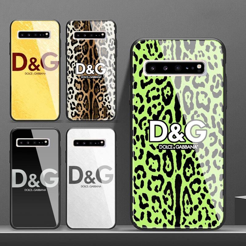 Itália marca de luxo dg caso telefone para galaxy vidro temperado casos aplicar para s10 s9 s8 s7 s6edge mais tpu capa