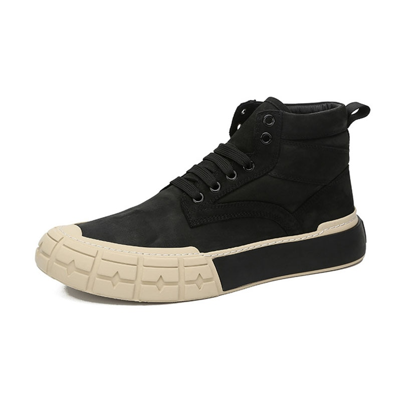 designer shoes men high quality man shoes leather genuine autumn winter British retro men shoes cowhide breathable sneaker