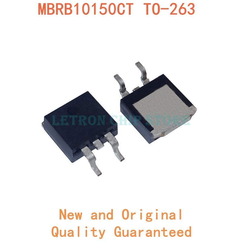 10 pces mbrb10150ct to-263 10150ct to263 b10150g d2pak 10a 150v smd schottky diodo novo e original ic chipset