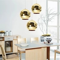 modern reito industrial pendant lighting with hand blown glass mirror ball ceiling pendant lamp for living room kitchen bar cafe