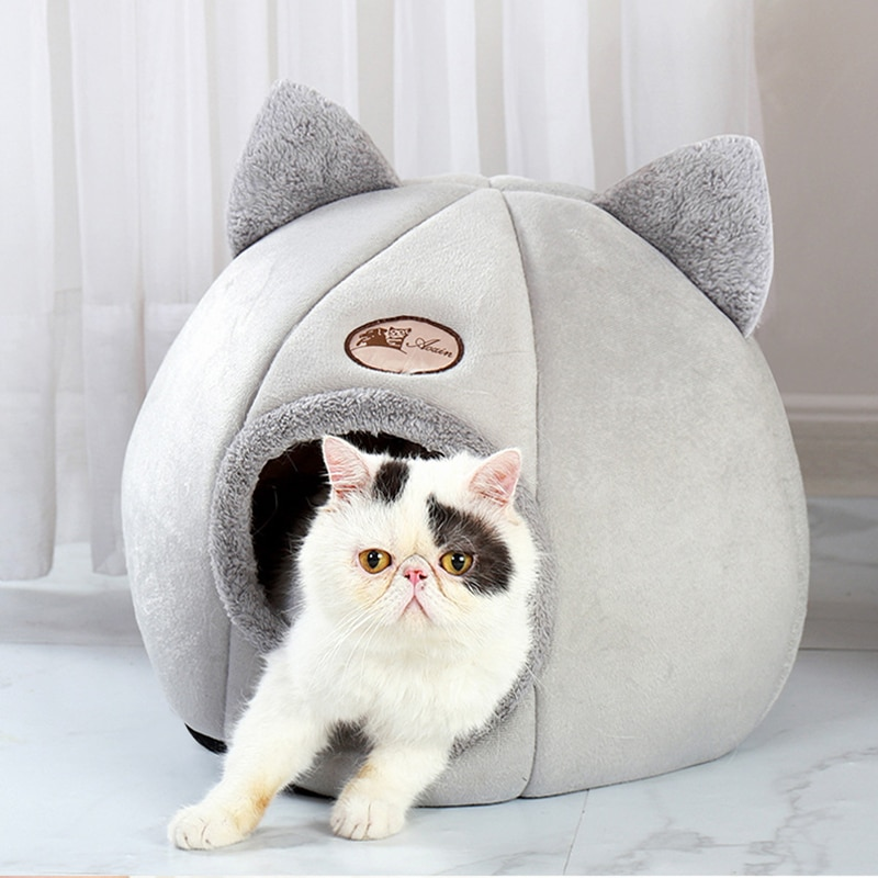 Deep sleep comfort winter cat bed mat basket for cats house products pets tent cozy cave beds Indoor cama gato