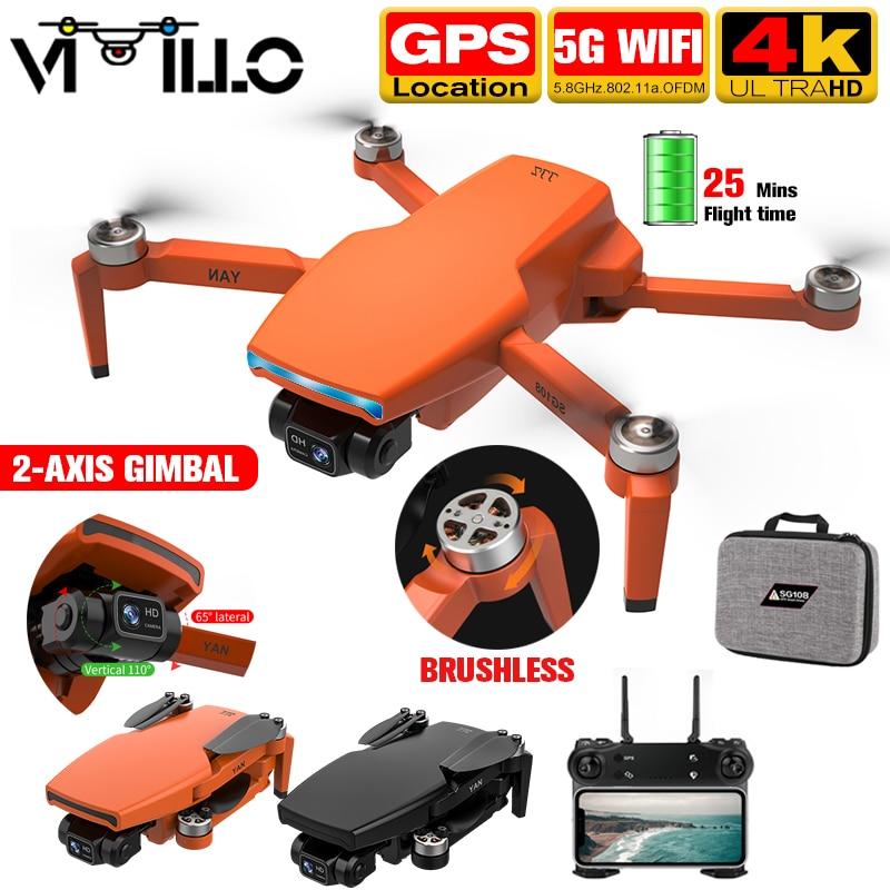 SG108 برو 2021 GPS 4k الطائرة بدون طيار 2 محور Gimbal المهنية كاميرا 5G واي فاي FPV درون 1 كجم المسافة فرش السيارات أجهزة الاستقبال عن بعد PK S3