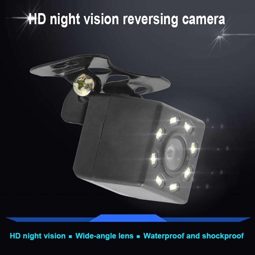 New Weatherproof Front Rear View External Night Car Reversing Recorder Reversing Image Car Camera Wide Viewing 8 Led Lights#LR1