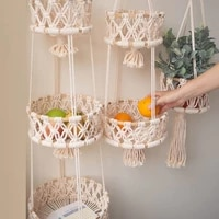 creative home decoration storage basket living room bedroom vegetable and fruit basket cotton rope woven storage basket