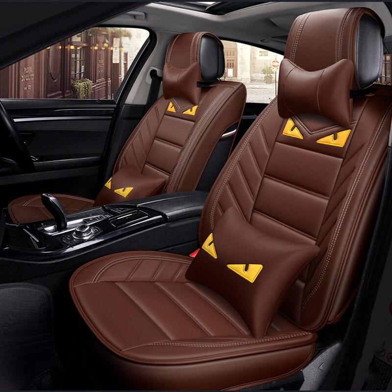 ZRCGL fundas de asiento de coche de cuero Universal para CHANA todos los modelos CS35 Alsvin Benni CX20 CX30 CS75 CS55 CS15 CS95 Coche estilo de auto ac
