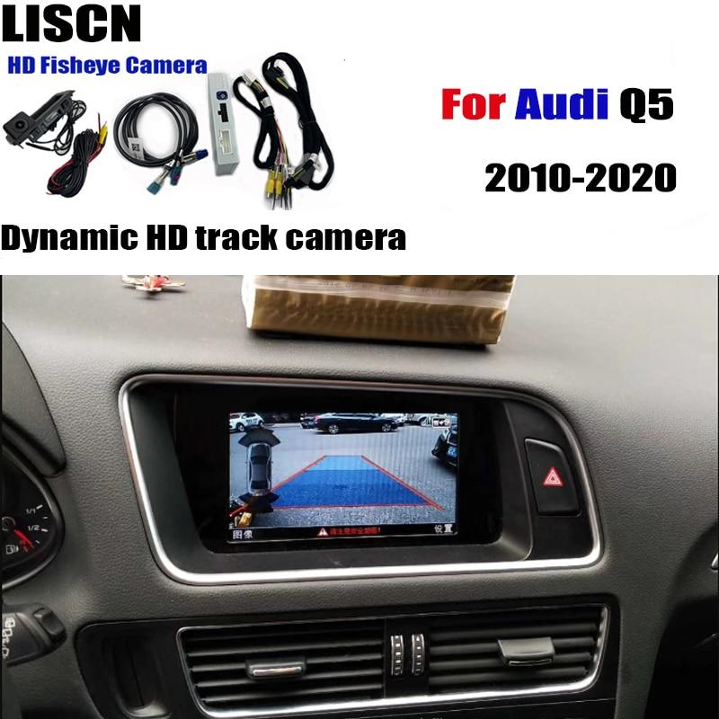 كاميرا الرؤية الخلفية عالية الدقة لأودي Q5 2010-2020 ، واجهة محول النسخ الاحتياطي لوقوف السيارات ، شاشة العرض ، تحسين فك التشفير
