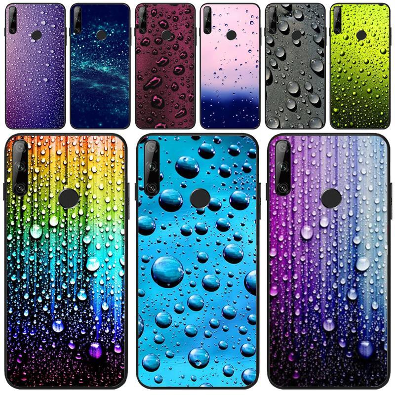 Funda de teléfono de goma suave TPU gotas de agua coloridas a la moda para Huawei Y5 Y6 Y7 Y9 Prime Pro II 2019 2018 Honor 8 8X 9 lite View9