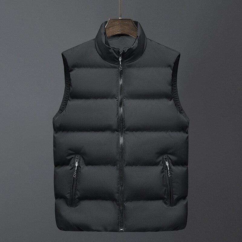 2021 мужская зимняя куртка, хлопковый жилет, модная теплая пуховая свободная уличная одежда, жилет, плотное хлопковое пальто
