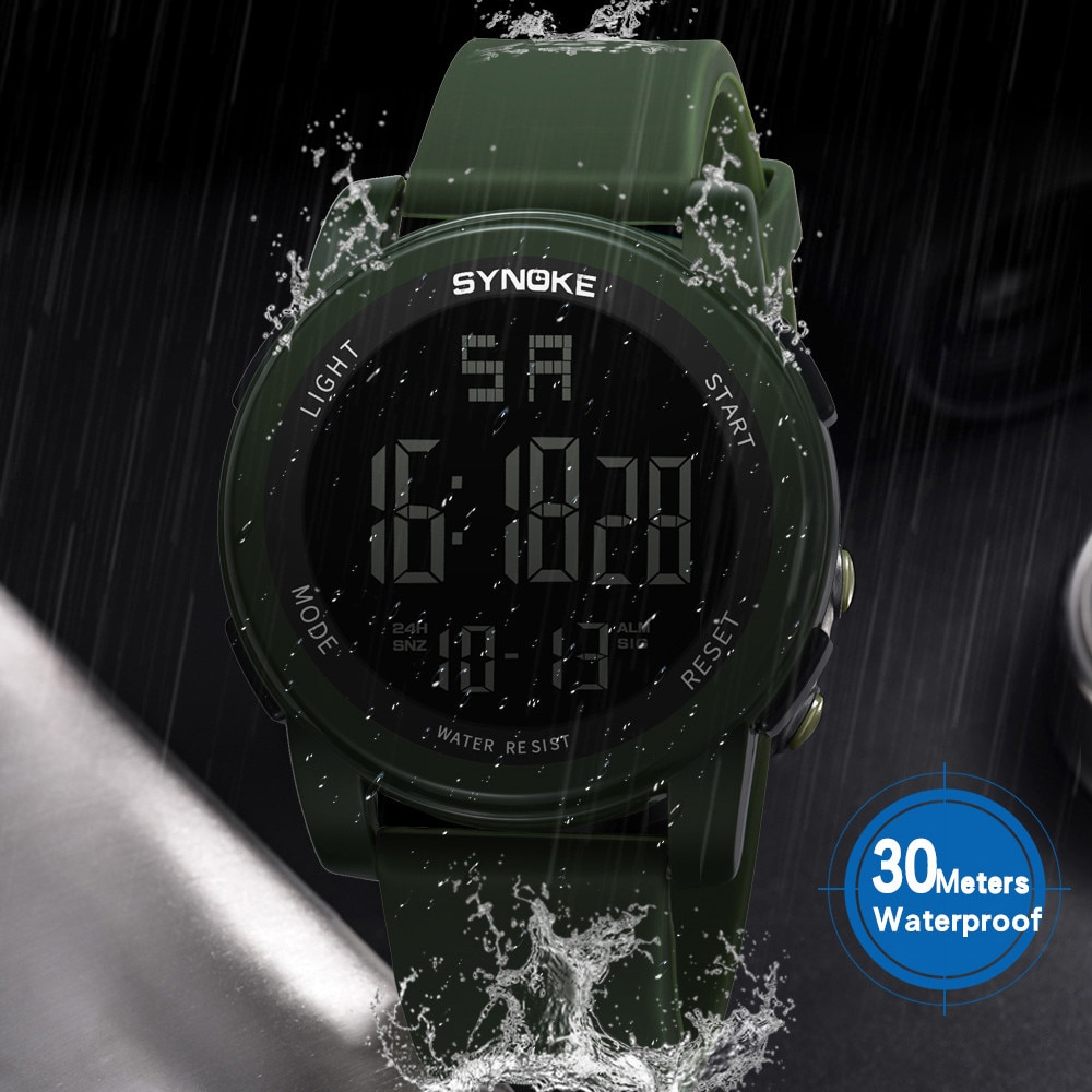 Men's Calendar Nylon Strap Watch Green Galss Alloy Dial Watches Sports Chronograph Bracelet Wristwat