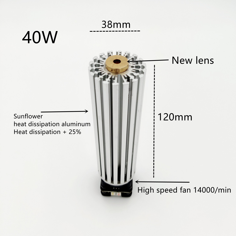 40W Laser Module Laser Head Laser Machine for engraving 450nm Laser Cut Laser For CNC3018  Wood Cut Laser engraving head Module enlarge