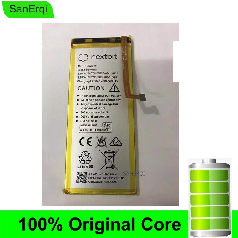 NB-01 para Nextbit batería de 3,84 V 2680 mAh/10.3Wh reemplazo de baterías de alta calidad