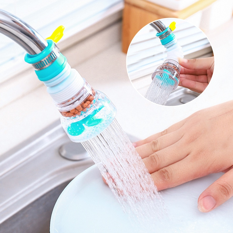 Rotation Kitchen Faucet Spouts Sprayers PVC Shower Tap Water Filter Purifier Nozzle Filter Water Saver For Household Kitchen