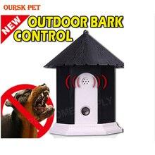 New  Outdoor Bark Deterrents Pet Dog Ultrasonic Anti Barking Collars Repeller  Dog Stop No Bark Control Trainer Device Supplies