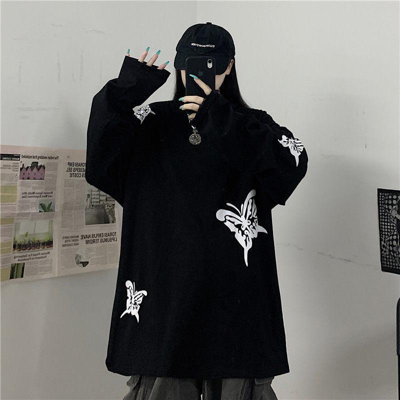 Camiseta De mariposa para Mujer, ropa Harajuku, Top De Mujer, camiseta para...