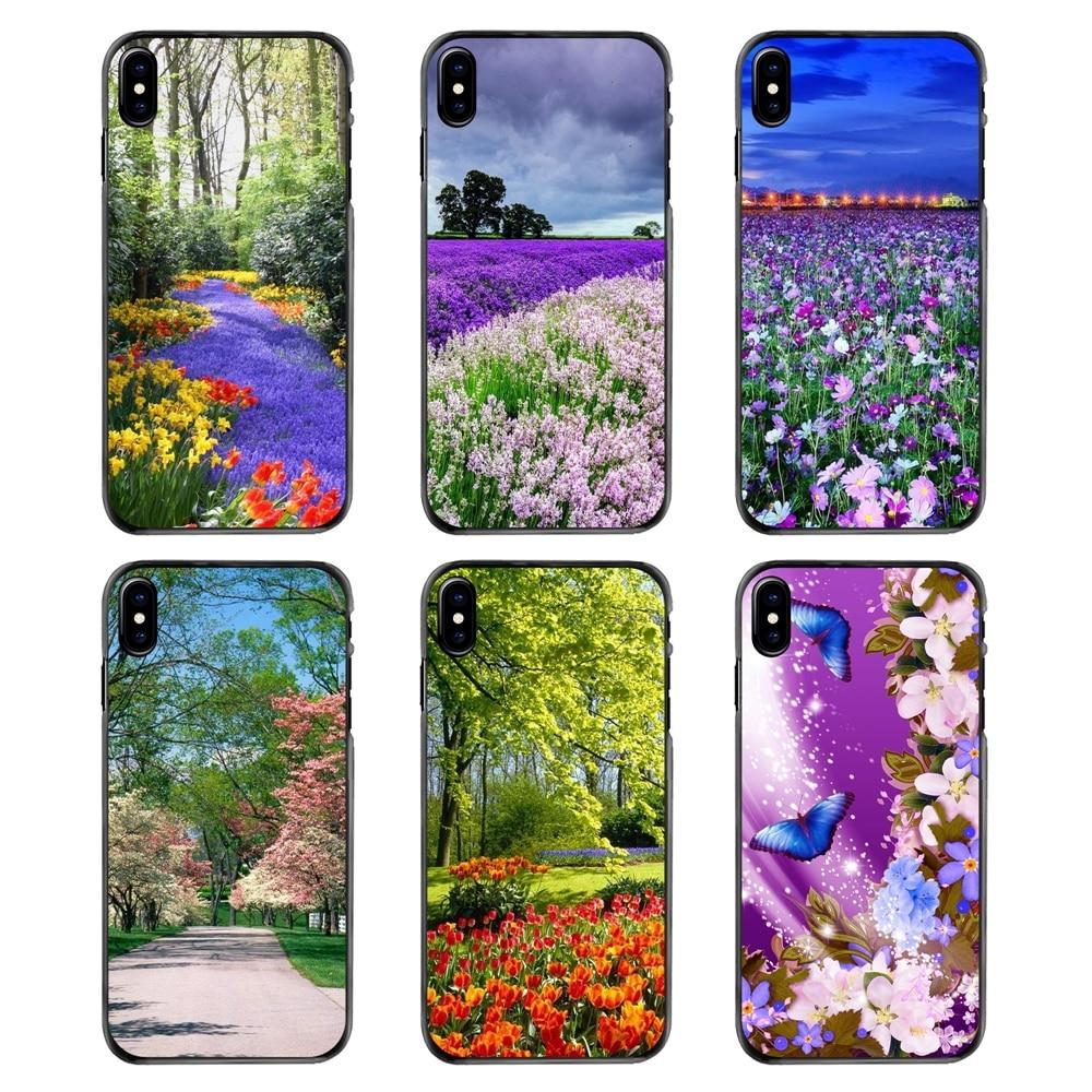Funda rígida para Huawei P7 P8 P9 P10 Lite Plus 2017 2016 Honor 5C 6 4X 5X Mate 8 7 9 patrón de temporada de primavera de flores Pastel