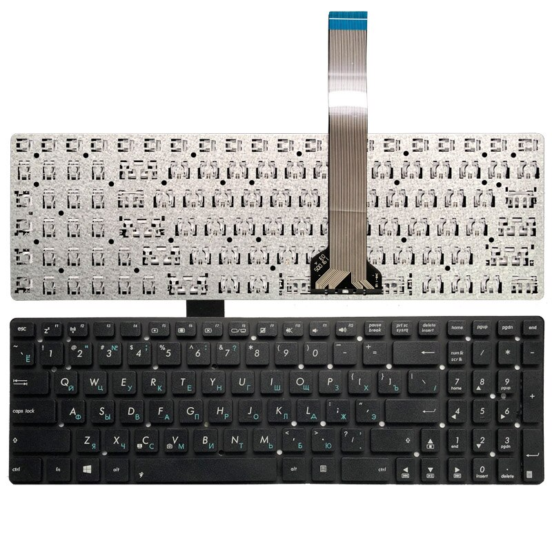 Russa para Asus Teclado K55vm K55vd K55vs K55xi K55de K55dr 0knb0-6121ru00 ru Preto Laptop K55 K55a K55v K55vj