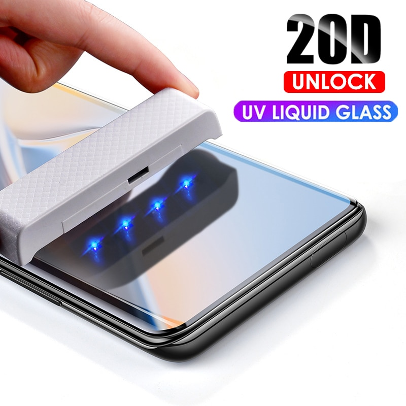 21D UV Vidro Temperado Para o iphone 11 Pro Max Líquido Cola Completo Protctor Tela de Vidro Para o iphone 6 6S 7 8 Plus XR XS MAX 11 Pro Max