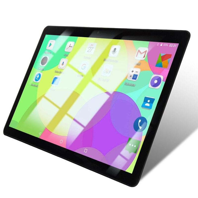 10,1 pulgadas Tablet Pc Quad Core potente Android 1GB de RAM 16GB ROM IPS teléfono Dual SIM llamada Tab teléfono tabletas Pc negro enchufe de la UE
