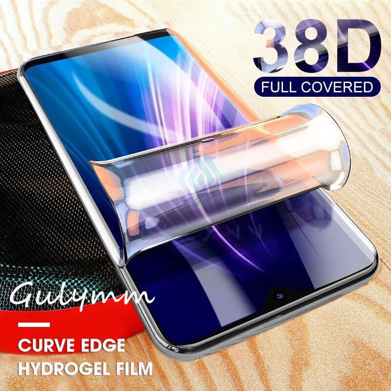 38D Full Cover Soft Hydrogel Film For Xiaomi Redmi Note 8 8T 7 4X K30 K20 Pro Screen Protector For Xiaomi Mi 9 T A3 Lite Note 10