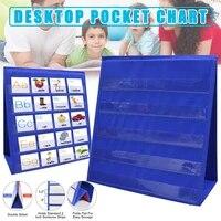 desktop pocket chart teaching double sided self standing foladble for classroom letter board student teaching accessories %d0%b4%d0%be%d1%81%d0%ba%d0%b8