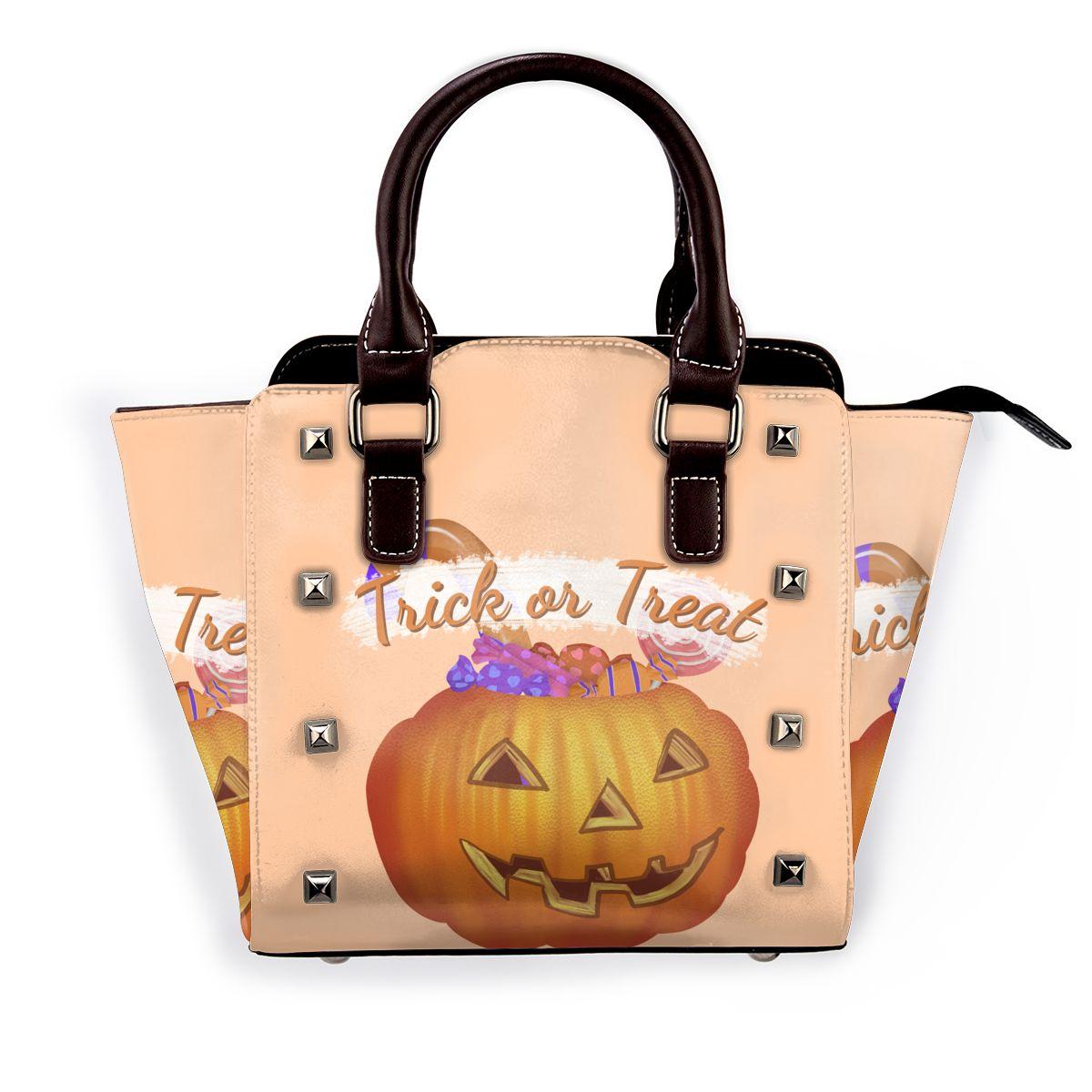 هالوين خدعة أو علاج حقيبة كتف التسوق مضحك الإناث حقيبة يد السائبة الحقائب الجلدية مضحك