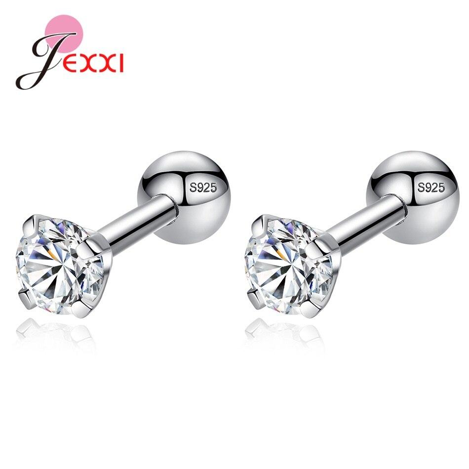 New Statement Korean Popular Ins Women 925 Sterling Silver Pierced Stud Earrings Party Accessory Fine Jewelry Blue Green Zircon