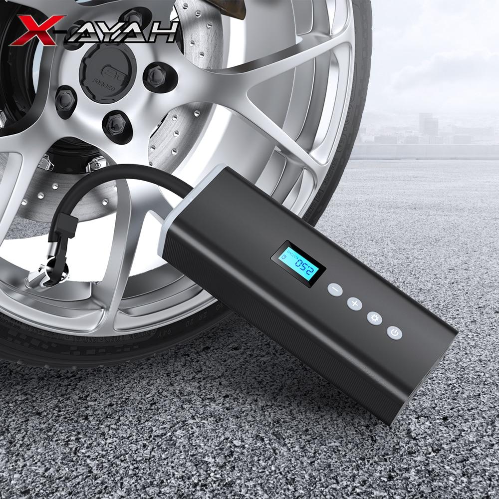 المحمولة ضاغط هواء للسيارة مضخة نفخ مع LED مصباح لسيارة دراجة نارية إطار دراجة نفخ مضخة هواء كهربائية لاسلكية