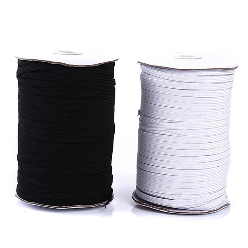 200 ярдов, швейная лента, Плоский эластичный шнур, белый/черный, сделай сам, ручная работа, швейные материалы, эластичная лента для шитья, ручн...
