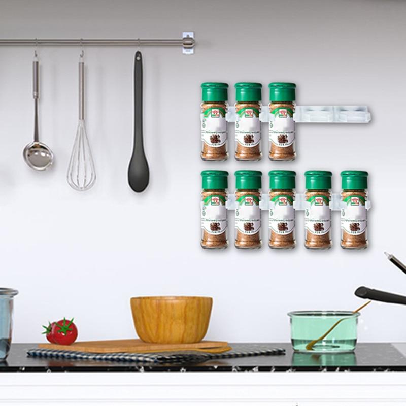 Spice rack montare pe perete organizator de bucătărie condiment - Organizarea și depozitarea în casă - Fotografie 3