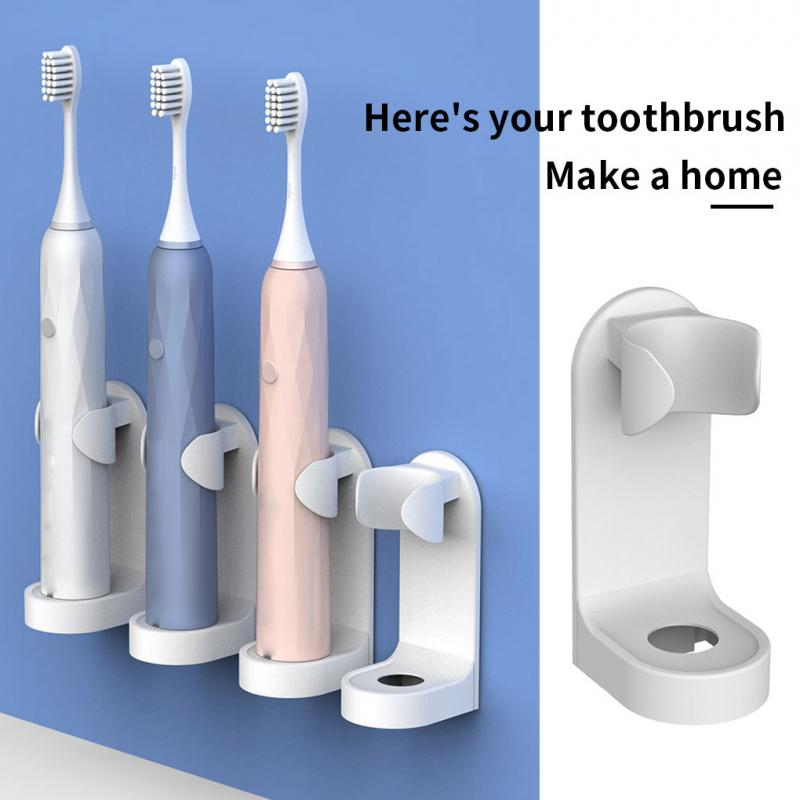 Adjustable Toothbrush Holder Electric Toothbrush Base Silicone Non-slip Wall Mount Brush Body Rack Adapt 99% Bathroom Products