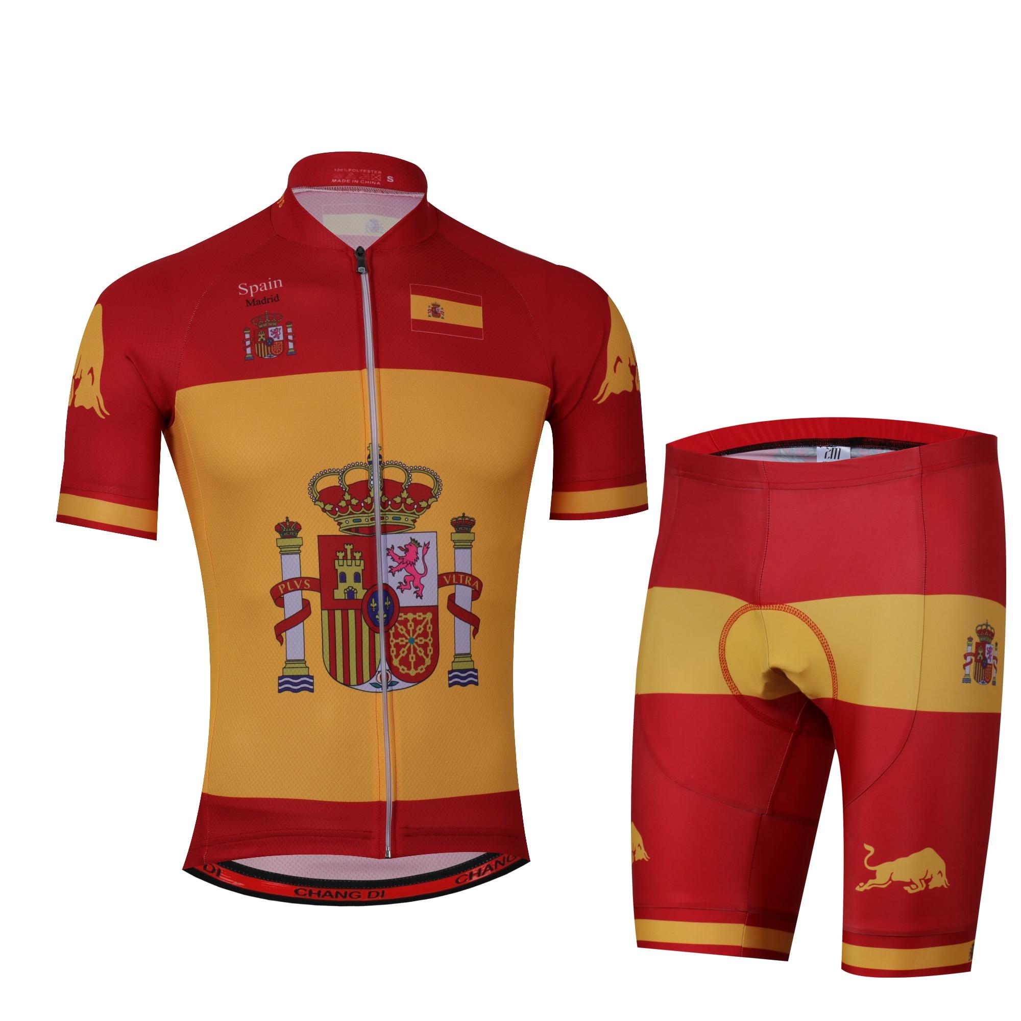 España Ciclismo Jersey 2020 Pro equipo Orbeaful Ciclismo Ropa MTB Ciclismo Bib pantalones cortos hombres Bike Jersey Set Ropa Ciclismo Triatlón