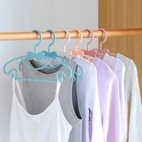 51020pcs portable cute clothes hanger kid baby clothes coat plastic hanger hook household kid pants hangers for clothes hanger