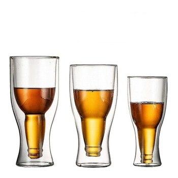 Креативная Коктейльная стеклянная кружка для вина, кружки с двойными стенками, пивные бокалы для вина, бокалы для виски, бокалы для шампанск...