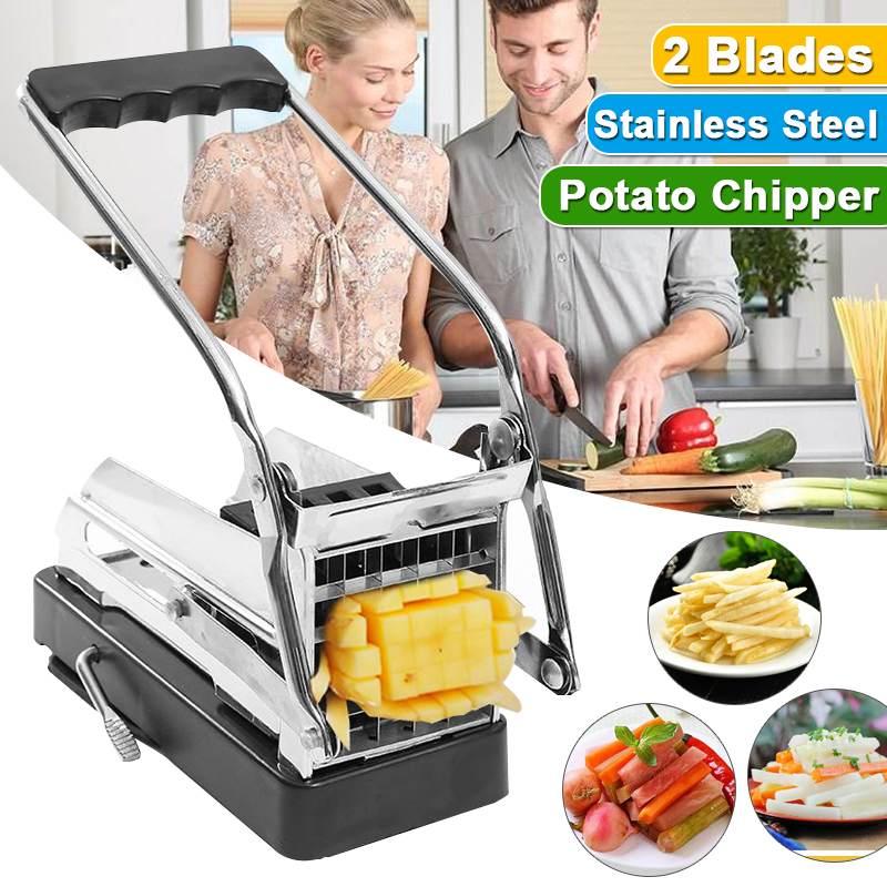 ماكينة تقطيع بطاطس غير قابلة للانزلاق ، من الفولاذ المقاوم للصدأ ، أفضل قيمة ، للاستخدام المنزلي ، أواني المطبخ