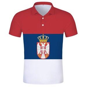 SERBIA republic POLO shirt diy free custom made name number srbija SRB T-shirt srpski nation flag serbien college print clothes
